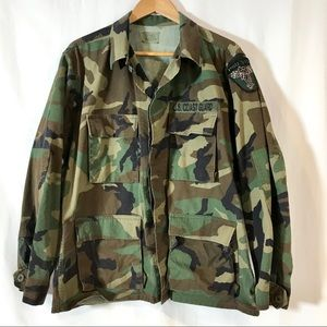 US Coast Guard Vintage Woodland Camo Field Jacket